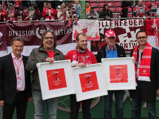 Ehrung lebenslange Mitglieder beim Spiel gegen Braunschweig