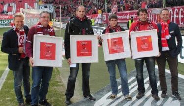 Ehrung lebenslange Mitglieder beim Spiel gegen Heidenheim