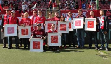 Ehrung lebenslange Mitglieder beim Spiel gegen Stuttgart