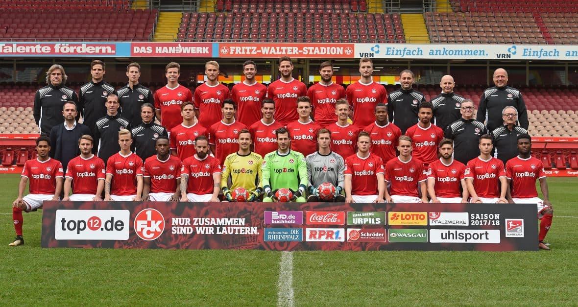Mannschaftsfoto 1. FC Kaiserslautern, 2017/2018