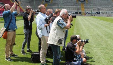 Fotografen beim Medientag des FCK
