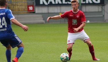 Julian Löschner beim Spiel gegen Pirmasens, 12. August 2017