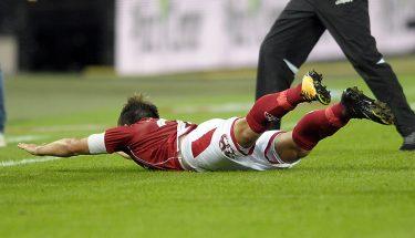 Jubel von Daniel Halfar nach seinem 1:0-Tor gegen den SV Darmstadt