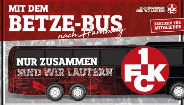 Mitgliederaktion: Fahrt mit dem Betze-Bus nach Hamburg!