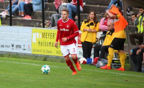 FCK-Neuzugang Joel Abu Hanna beim Benefizspiel in Oppau, 31. August 2017