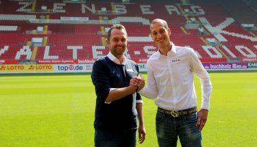 FCK-cheftrainer Jeff Strasser mit Sportdirektor Lizenzbereich Boris Notzon