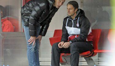 Jeff Strasser und Alexander Bugera beim Spiel in Regensburg