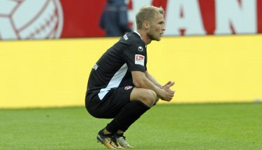 Sebastian Andersson nach dem Spiel in Regensburg