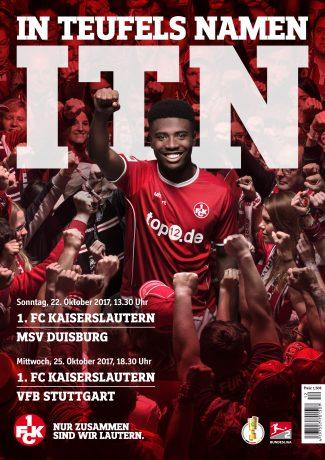 Cover des Stadionmagazins zu den Heimspielen gegen den MSV Duisburg und den VfB Stuttgart