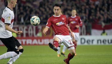 Baris Atik im Pokalduell mit dem VfB Stuttgart