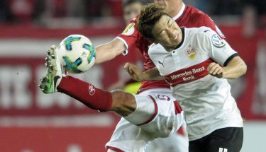 Christoph Moritz im Pokalduell mit dem VfB Stuttgart