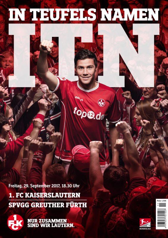 Cover des Stadionmagazins IN TEUFELS NAMEN zum Heimspiel gegen die SpVgg Greuther Fürth 2017/18
