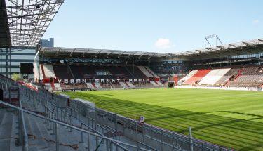 Innenansicht des Millerntor-Stadions St. Pauli