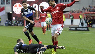 Lukas Spalvis im Spiel gegen Arminia Bielefeld