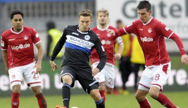 Christoph moritz und Phillipp Mwene im Spiel gegen Bielefeld.