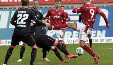 Sebastian Andersson im Heimspiel gegen den 1. FC Nürnberg