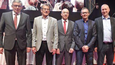 Der neue Aufsichtsrat: Jochen Grotepaß, Paul Wüst, Michael Littig, Patrick Banf und Jürgen Kind