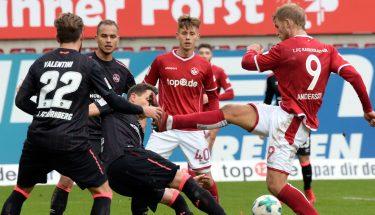 Torben Müsel und Sebastian Andersson im Spiel gegen Nürnberg