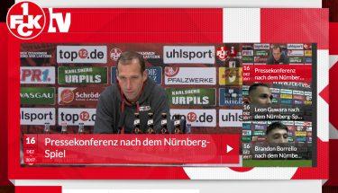 Screenshot FCK-TV: Pressekonferenz nach dem Spiel gegen Nürnberg