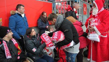 Rolli-Bescherung vor dem Heimspiel gegen den 1. FC Nürnberg