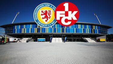 Ankündigungsbild zum Auswärtsspiel des FCK bei Eintracht Braunschweig