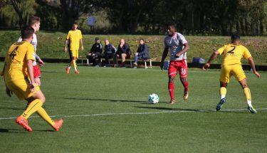 Manfred Osei Kwadwo beim Testspiel gegen den Marbella FC