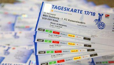 Die Tickets zum Auswärtsspiel beim MSV Duisburg gehen am 14. März 2018 in den Verkauf