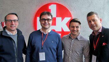 Martin Bader, Michael Klatt, Daniel Halfar und Klaus Drach