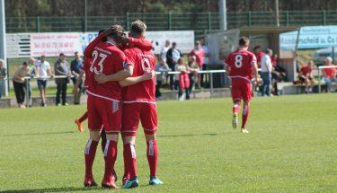 Torjubel im Auswärtsspiel der U23 beim FSV Jägersburg