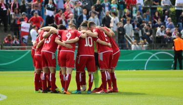 Die U19 im DFB-Junioren-Vereinspokal-Finale in Berlin gegen den SC Freiburg