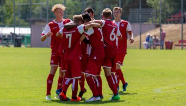 Torjubel im Heimspiel der U19 gegen den Karlsruher SC