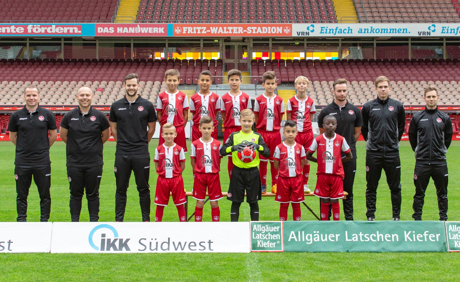 Mannschaftsfoto der FCK-U10 in der Saison 2018/19