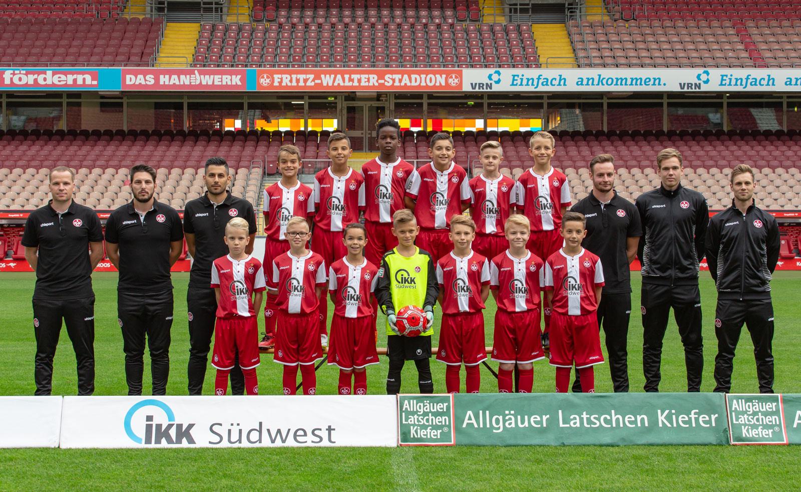Mannschaftsfoto der FCK-U11 in der Saison 2018/19