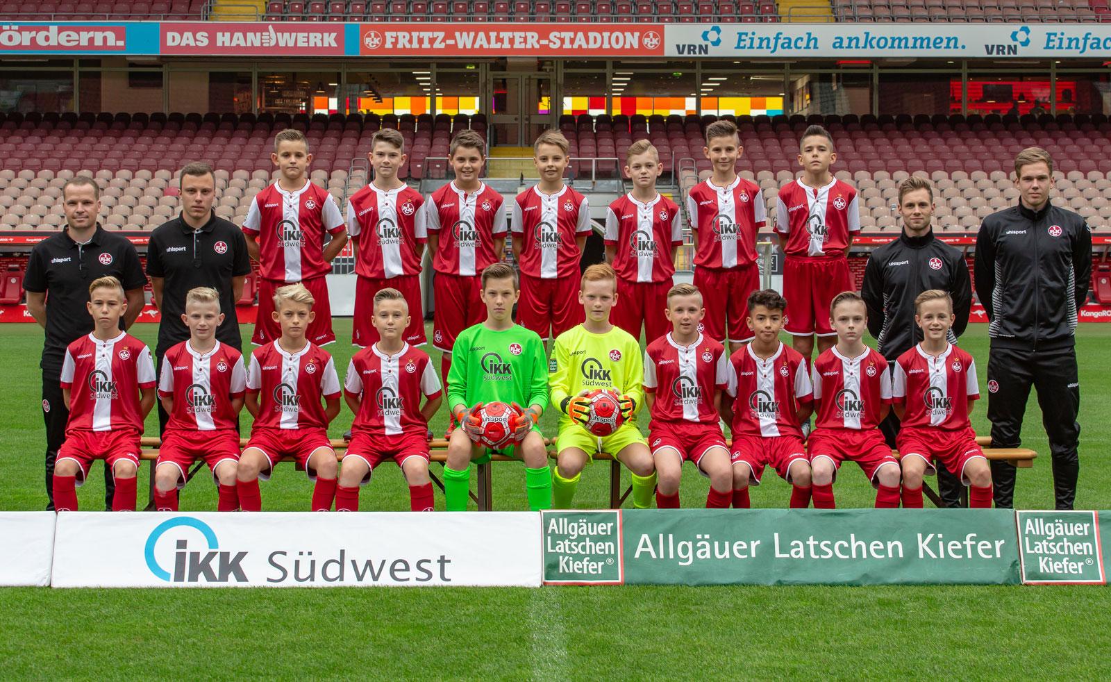 Mannschaftsfoto der FCK-U12 in der Saison 2018/19