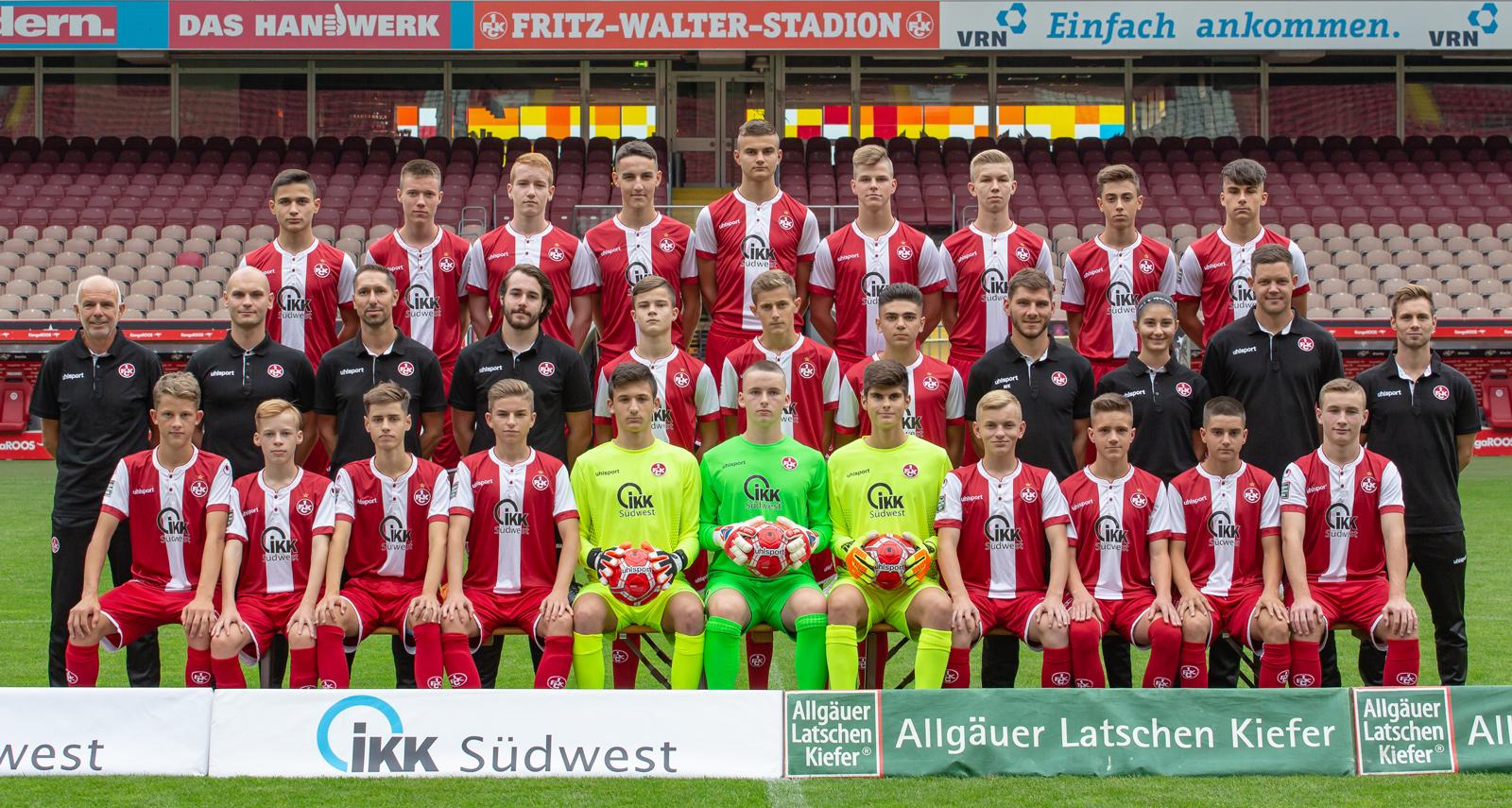 Mannschaftsfoto der FCK-U16 in der Saison 2018/19