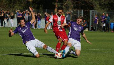 Iosif Maroudis im Spiel der U21 gegen Jägersburg