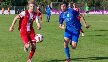 Julian Löschner im Heimspiel der U21 gegen Schott Mainz