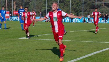 Torschütze Jonas Singer im Heimspiel der U21 gegen Schott Mainz