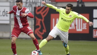 Theo Bergmann im Heimspiel gegen den SV Wehen Wiesbaden
