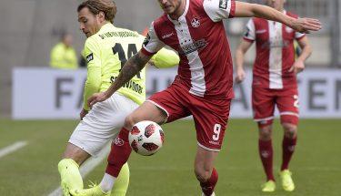Timmy Thiele im Heimspiel gegen den SV Wehen Wiesbaden