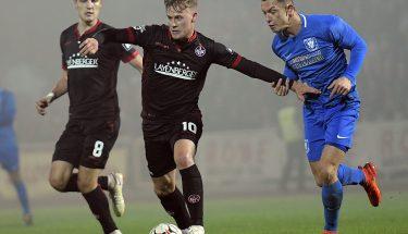 Torschütze Julius Biada im Verbandspokalspiel beim TSV Gau-Odernheim