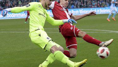Gino Fechner im Auswärtsspiel beim TSV 1860 München