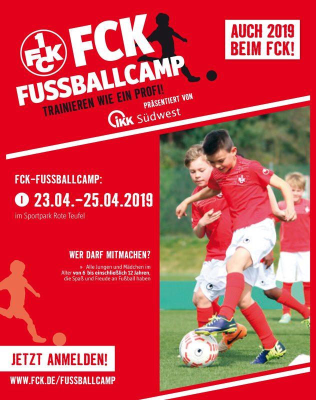 Das Fußballcamp präsentiert von IKK Südwest wird auch im Jahr 2019 wieder angeboten