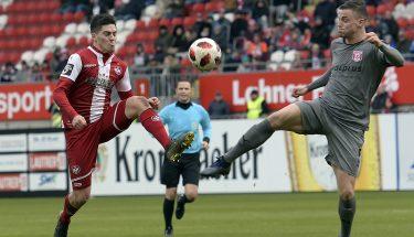 Dominik Schad im Heimspiel gegen Halle