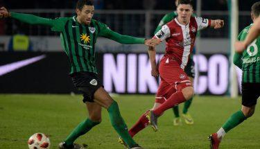 Dominik Schad im Auswärtsspiel in Münster