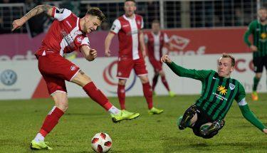 Timmy Thiele im Auswärtsspiel in Münster