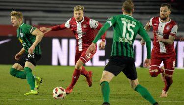 Elias Huth und Jan Löhmannsröben im Auswärtsspiel in Münster