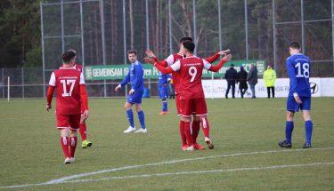 Torjubel im Spiel der U21 gegen Emmelshausen