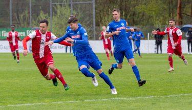 Anas Bakhat im Spiel der U19 gegen die Stuttgarter Kickers