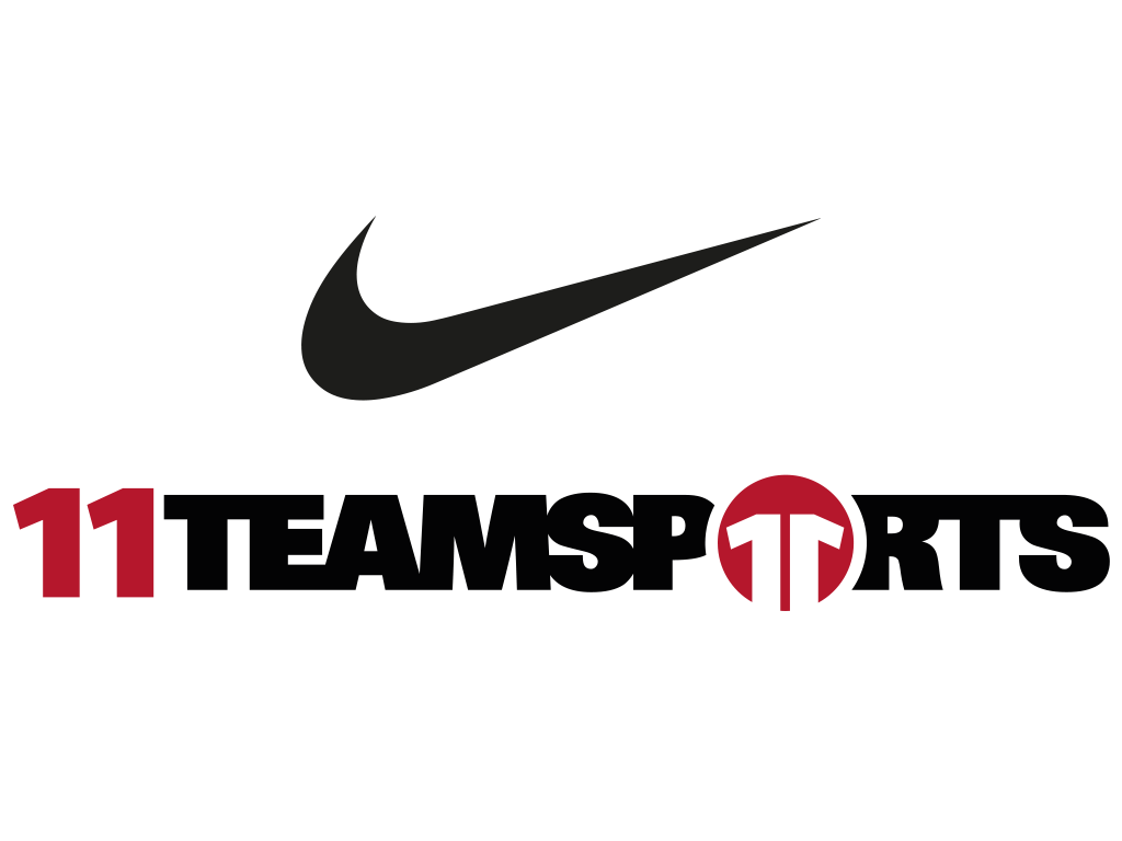 Logo des FCK-Ausrüsters Nike und 11teamsports in der Saison 2019/20